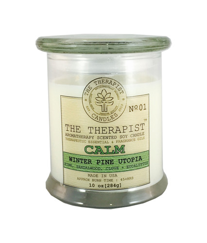 pine, holiday, christmas, soy candle, candle the therapist, essential oils