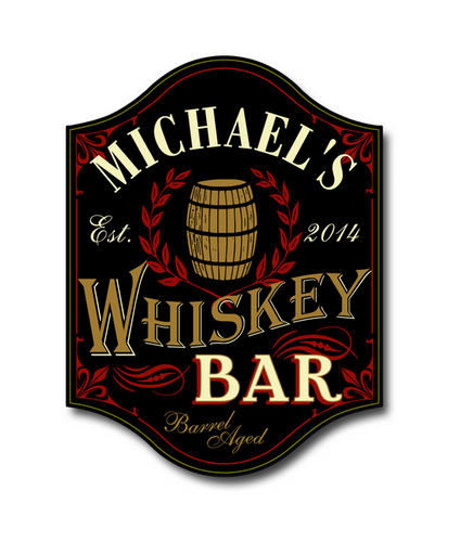 Personalized Whiskey Bar by THOUSAND OAKS BARREL CO.