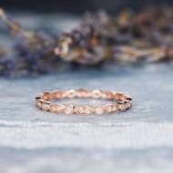 Rose Gold Eternity Wedding Band
