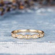 Half Eternity Band Wedding Bridal Ring