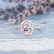 Pink Morganite Ring Engagement Ring
