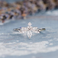 Marquise Unique Diamond Engagement Ring