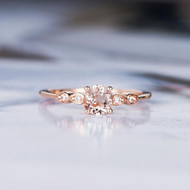 Unique Promise Morganite Engagement Ring