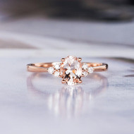 Oval Cut Promise Bridal Morganite Ring