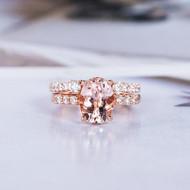 Oval Cut Wedding Ring Bridal Set