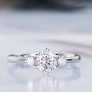 Moissanite Engagement Ring Antique Wedding Ring