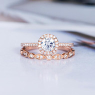 Moissanite Engagement Ring Sets Bridal Sets