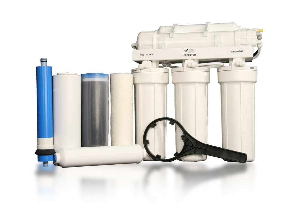 RU500T35 w/ BP | Five-Stage Reverse Osmosis Water Filtration + Booster Pump for Difficult Well Water