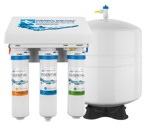 ESSENTIAL RO Three-Stage Reverse Osmosis System with Ultraviolet Protection (Model #: RO3-UV)