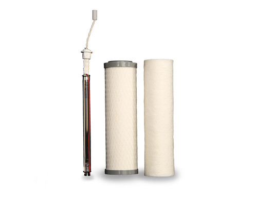Complete Filter Set: UU250 4-Pin UV (Red Stripe Cord) | Two-Stage Under Counter