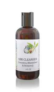 SBR CLEANSER - Organic Daily Facial Cleanser for Sensitive,  Blemished & Rosacea (Pitta) Skin