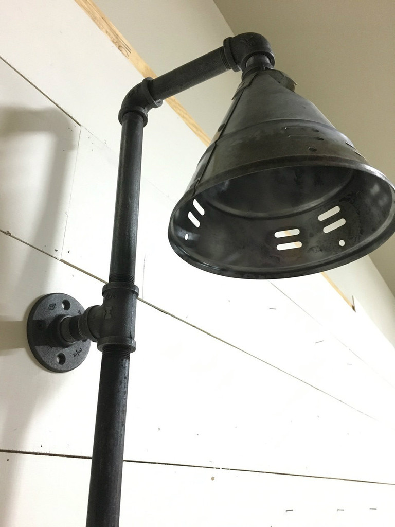 Industrial Style Pipe Wall Mount Light