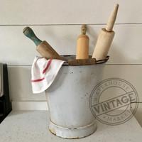Vintage Enamel Bucket