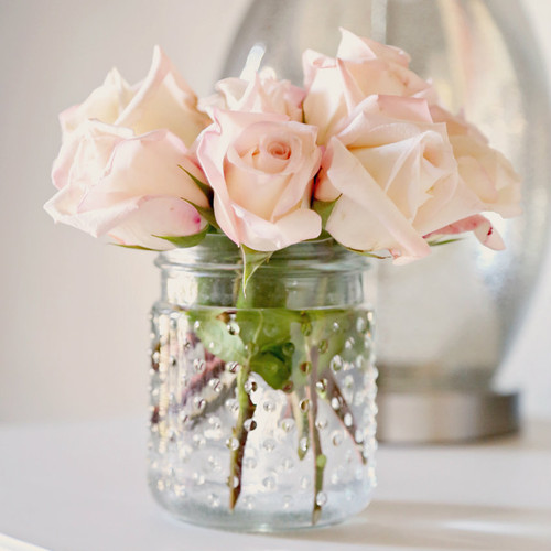 Glass Hobnail Jar
