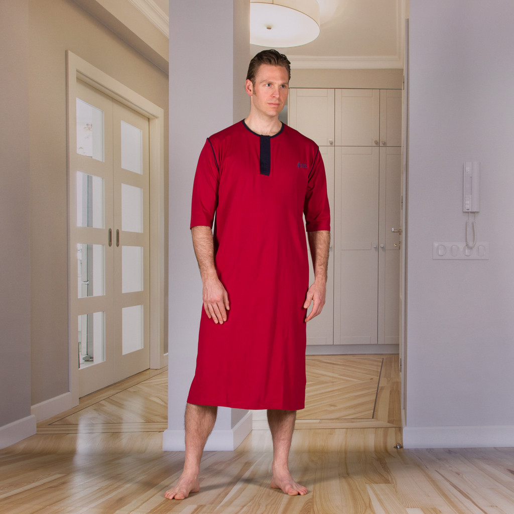 Unisex Nightshirt with an Open Back (Hospital Gown)