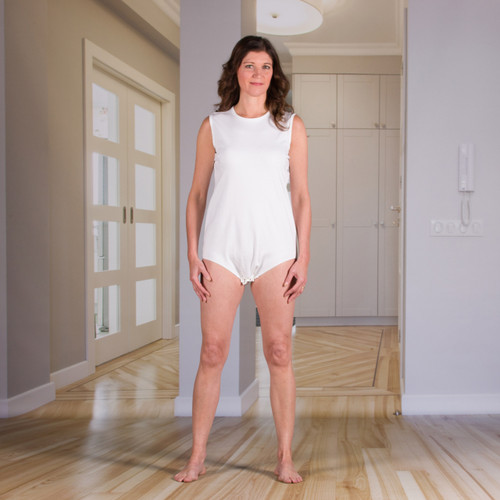 Unisex Bodysuit with Snap-Fastening Crotch (Onesie)