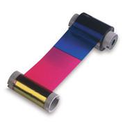 86214 Fargo YMCFKOK: Full-color ribbon w/ two resins black, fluorescing & clear overlay panel - 350 images