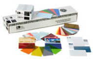 104524-120 Zebra white composite, 30 mil cards, World Globe (500 cards)