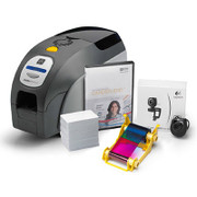 Z32-0M00E200US00 Zebra QuikCard ID Solution with ZXP Series 3 dual-sided card printer, USB, Magnetic encoder, CardStudio software, webcam, and Media starter kit (200 cards, 1 YMCKOK color ribbon)