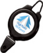 2120-4001 Plastic Ski/Sports Reel Badge Card Holder - Black
