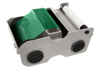44234 Fargo Green Cartridge w/ Cleaning Roller - 1000 images