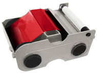 44235 Fargo Red Cartridge w/Cleaning Roller - 1000 images