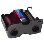 44281 Fargo YMCKOK Full-color Starter ribbon w/Cleaning Roller, 2 resin black panels & clear overlay panel - 200 images