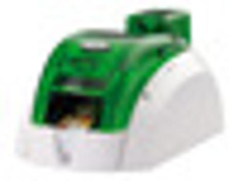 Pebble 4 Evolis Jungle Green Single-Sided ID Card Printer w/ Mag Encoder PBL401JGH-M