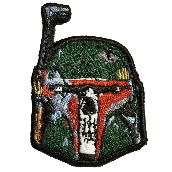 BOBA FETT SKULL PATCH