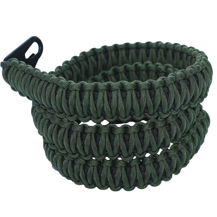 OD GREEN ON BLACK PARACORD RIFLE SLING