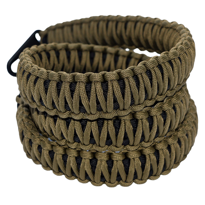FDE ON BLACK PARACORD RIFLE SLING