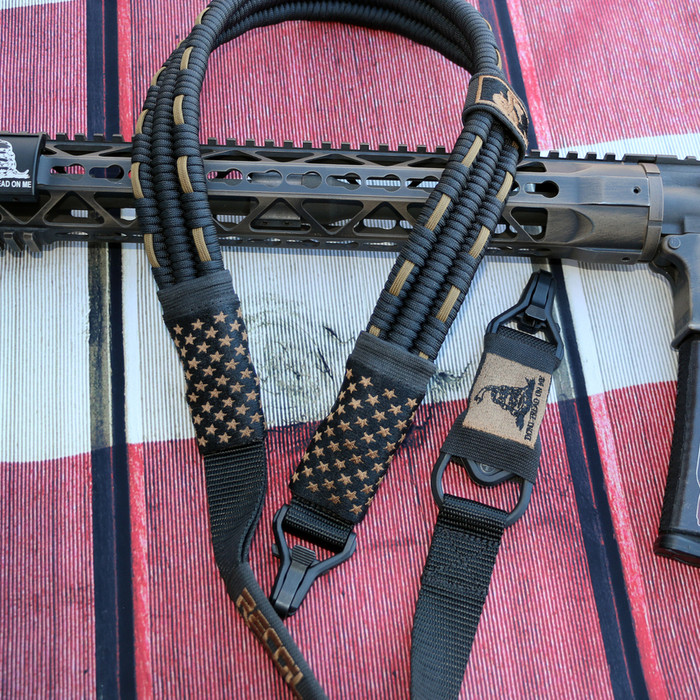 BLACK/ FDE SUBDUED US FLAG SLING