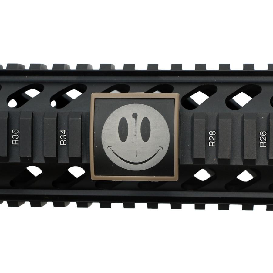 SMILEY FACE/ BULLET HOLE -SMALL LEA