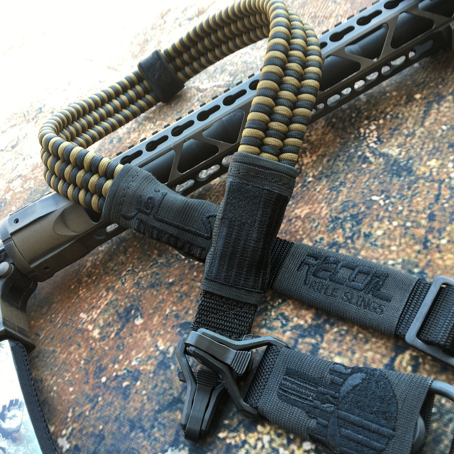 BLACK & FDE PARACORD SLING (SUBDUED)
