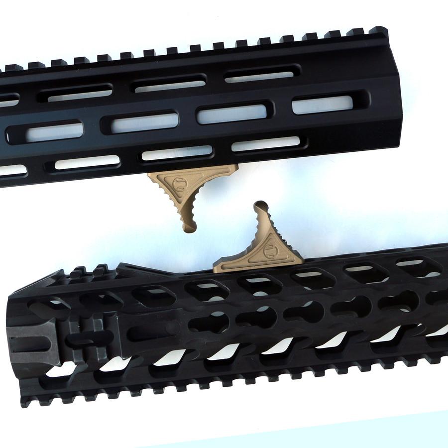 Rail Scales Karve Terra Bronze- 6061 Billet Aluminum - Fits KeyMod and MLOK