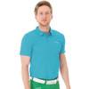 Funktion Golf Mens Short Sleeve Golf Shirt Aqua Blue Plain