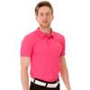 Funktion Golf Mens Short Sleeve Golf Shirt Pink Plain