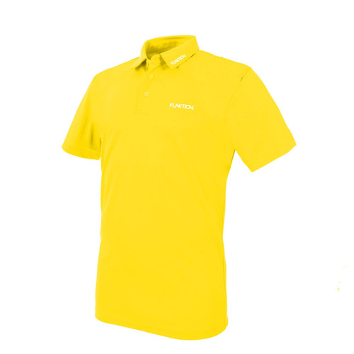 Funktion Golf Mens Short Sleeve Golf Shirt Yellow Plain