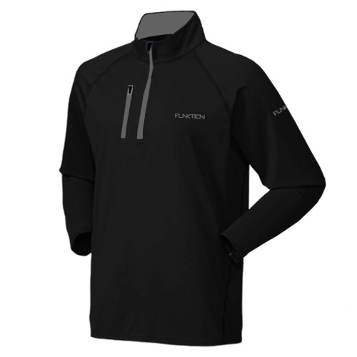 FUNKTION GOLF Thermal Performance Pullover Sweater - Black / Grey