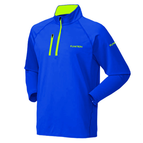 FUNKTION GOLF Thermal Performance Pullover Sweater - Electric Blue / Lime Green