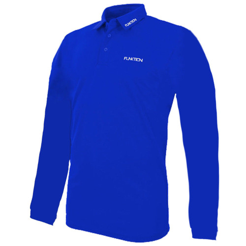 Funktion Golf Mens Long Sleeve Golf Shirt Electric Blue