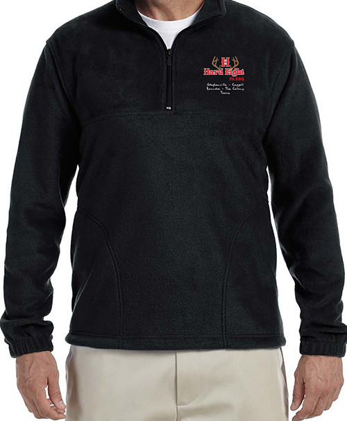 Black Fleece Pullover, Long Sleeve