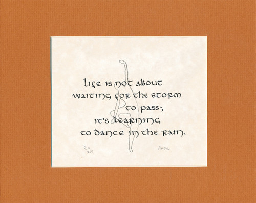 CALLIGRAPHY THEME: Life is not about...