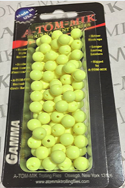 A-TOM-MIK Chartreuse 6mm Beads 100ct
