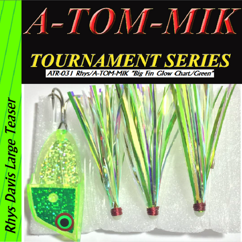 "ATR-031 Rhys/A-TOM-MIK ""Big Fin Glow Chart./Green"" Meat Rig"