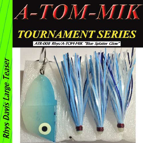 "ATR-008 Rhys/A-TOM-MIK ""Blue Glow Splatter"" Meat Rig"