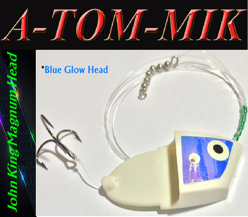 "Custom John King Magnum ""Blue Glow UV"" Rigged"