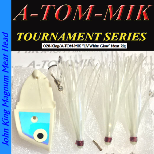 "028-King/A-TOM-MIK ""UV White Glow"" Meat Rig"