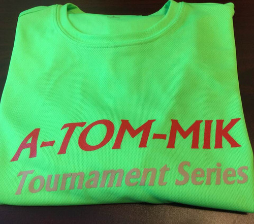 Breathable polyester A-TOM-MIK T's- Neon Green (Men/Women's)
