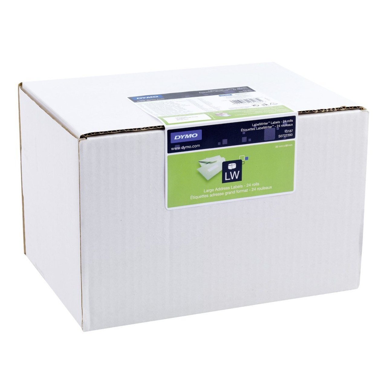 Dymo Bulk Labelwriter LW White Permanent Large Address Labels 36 X 89MM (Box Of 24 SD99012 Rolls) SD0722390